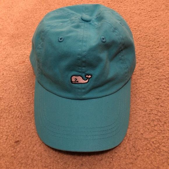 1b6118e1bda Aqua blue Vineyard Vines baseball cap.